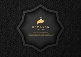 Black Ornate Pattern Ramadan Kareem Banner