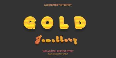 efeito de texto editável - estilo de texto dourado