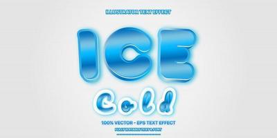 efeito de texto editável - estilo de texto de gelo azul