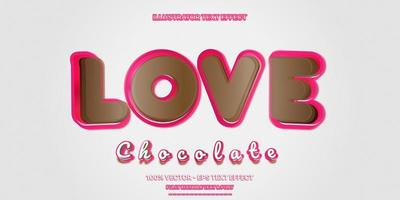 efeito de texto editável de estilo de texto chocolate