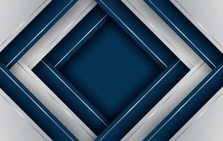 Blue and silver gradient overlapping diamond shapes vector