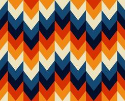 Seamless Chevron Style Retro 70s Pattern vector