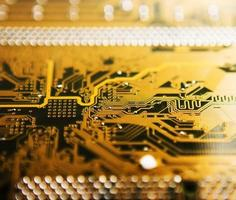 Electronic plate, motherboard photo