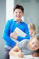 Cheerful schoolboy