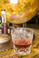 Whiskey on drinks globe