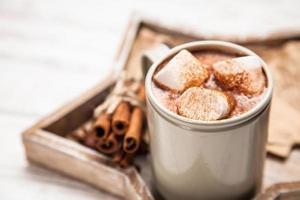 bebida de cacao con malvaviscos