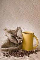 bebida de café con frijoles foto