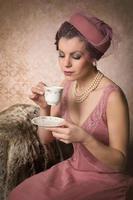 bebendo chá estilo gatsby