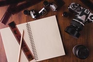 Camera book photo