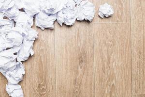 crumpled paper wads photo