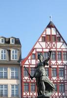 Lady Justice against facades