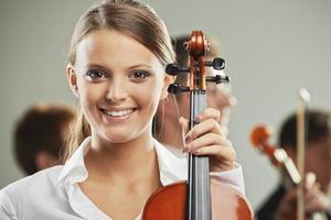 Classical music, woman portrait photo