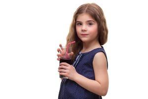 estudio de rodaje, bebidas niña foto