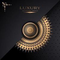 diseño de papel superpuesto mandala estrella dorada