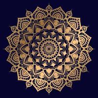 goldenes Luxus-Mandala-Design der Sternensonne