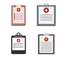 conjunto de iconos de informe médico vector