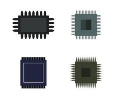 Set of Microchip Icons