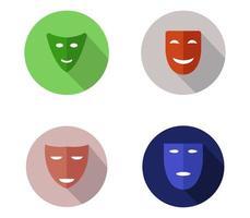 set di icone maschera teatrale