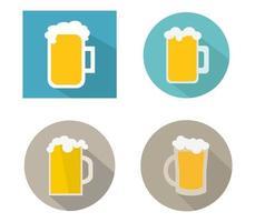 conjunto de canecas de cerveja