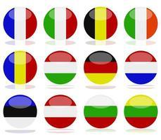 ensemble de drapeaux de cercle