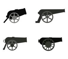 Cannon Icon Set vector