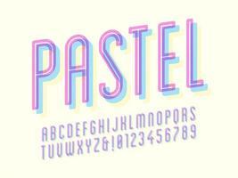 alfabeto condensado sobreimpreso en pastel vector