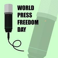 Green Poster for World Press Freedom Day