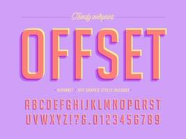Trendy Offset Overprint Alphabet Design