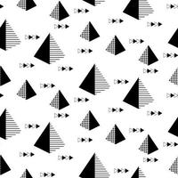 Seamless Geometric Pattern with Pyramids and Arrows vector