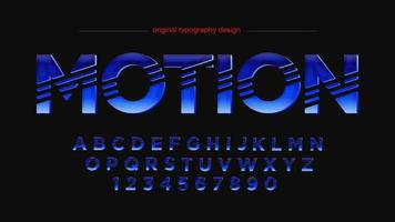 Futuristic Sports Sliced Uppercase Artistic Font vector