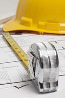 Architect blueprint photo