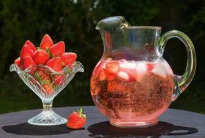 bebida de morango