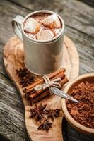 Cocoa drink with marshmallows