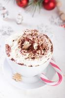 Christmas hot chocolate drink photo