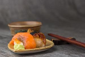 sushi  and tea drinking set