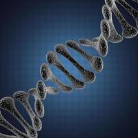 Ilustración científica de ADN único