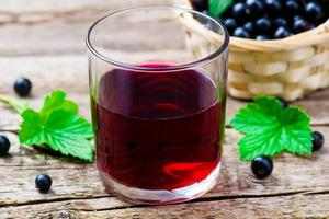 cold drink from black currant
