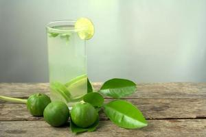 Fresh lime and peppermint drinks