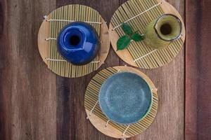 set de bebida de sake japonés