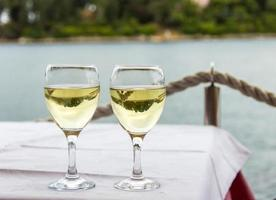 Two glasses with drinks photo