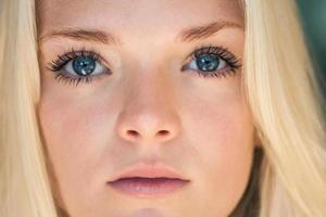 Portrait of young blonde woman photo
