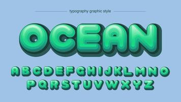 Rounded Green Comic Font in Graphic Style vector