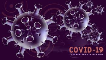 Covid-19 Background in Purple