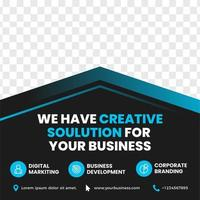 Business Banner with Blue Gradient Accent and Image Space vector