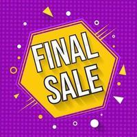 Final Sale Yellow Hexagon Discount Banner