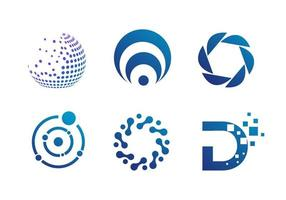 Set of Abstract Circular Business Icons vector