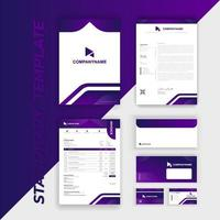 Branding Identity Set with Purple Rounded Angle Accents