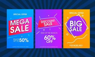 Bright Geometric Design Sale Banner Set