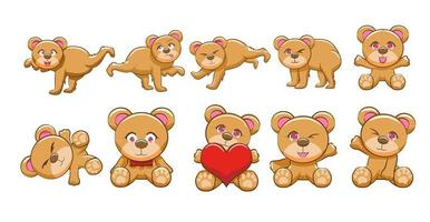 Cartoon Teddy Bear Set