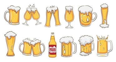 Beer Mugs and Glasses Set